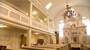 Feuchte Wände Sanierung in der Kirche Dornheim in Thüringen