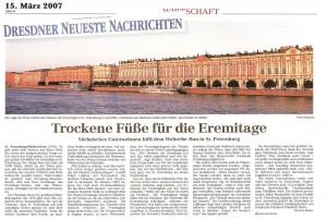 Mauertrockenlegung durch Drymat in den Dresdner Neuesten Nachrichten